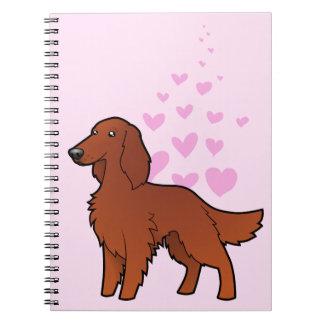 Irish / English / Gordon / R&W Setter Love Spiral Notebooks