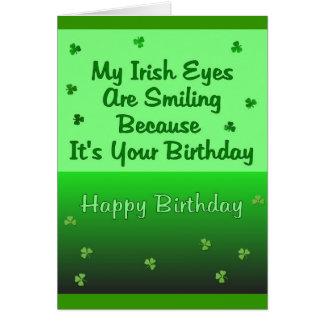 Irish Eyes Birthday Card