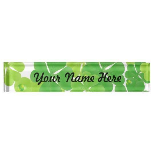 Irish Fab Shamrock Design Name Plate