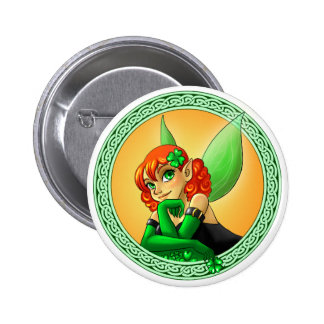 Irish Fairy Pinback Buttons