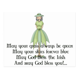 Irish Fairy Girl 1 - Irish Quote Postcard