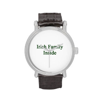 Irish Family Inside Wrist Watch