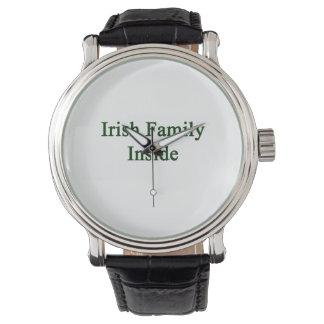 Irish Family Inside Wristwatch