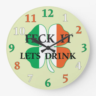 Irish Feck It Large Clock