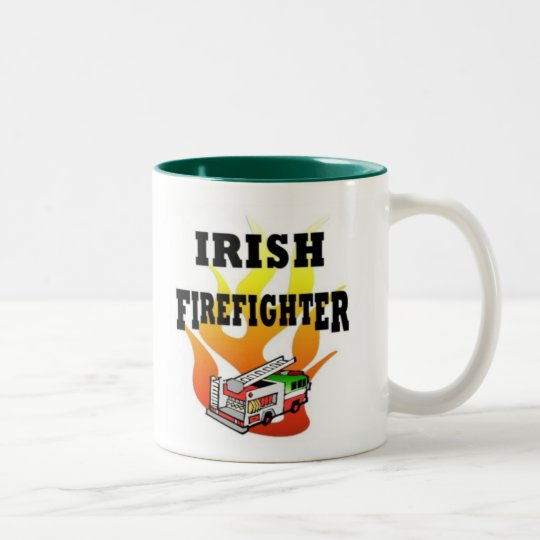Irish Fire Fighter Two-Tone Coffee Mug