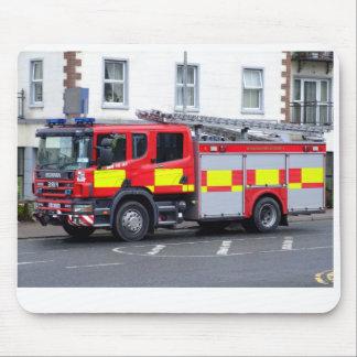 irish fire truck mouse mat