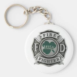 Irish Firefighter Badge Key Ring