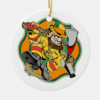 Irish Firefighter Christmas Ornament