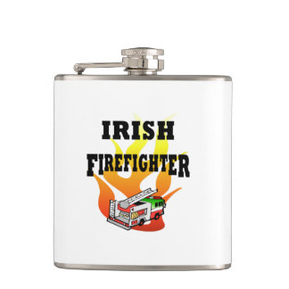 Irish Firemen Hip Flask