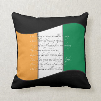 Irish Flag and Anthem Pillow
