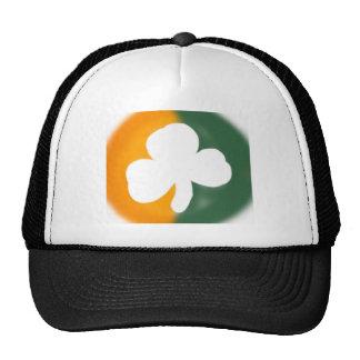 Irish flag and shamrock. trucker hat