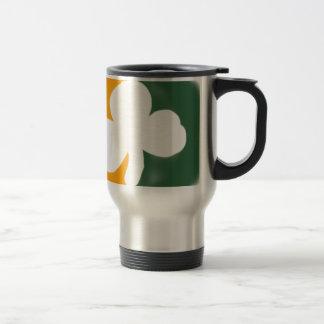 Irish flag and shamrock. coffee mug