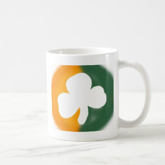 Irish flag and shamrock. coffee mugs