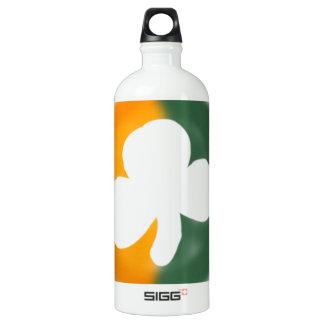 Irish flag and shamrock. SIGG traveller 1.0L water bottle