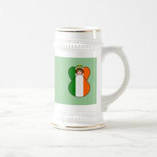 Irish Flag Angel Shamrock Eyes Coffee Mug