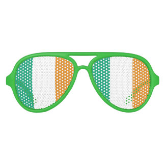 Irish Flag Aviator Sunglasses