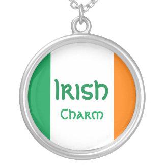 Irish Flag Charm Necklace
