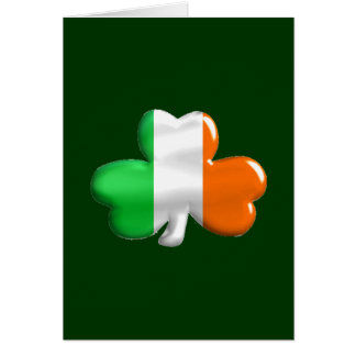 Irish Flag Clover Card