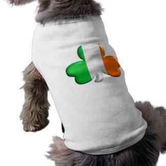 Irish Flag Clover Dog Tshirt