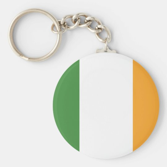 Irish Flag Design Keychain