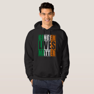 Irish Flag Ginger Lives Matter Hoodie
