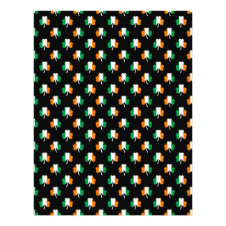 Irish Flag-Green/White/Orange-Colored Shamrocks Full Color Flyer