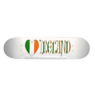 Irish Flag Heart & Word Ireland Skate Decks