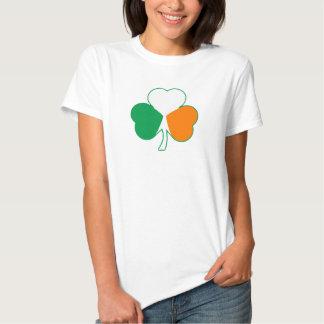 Irish Flag 'Hearts' Shamrock T-shirt