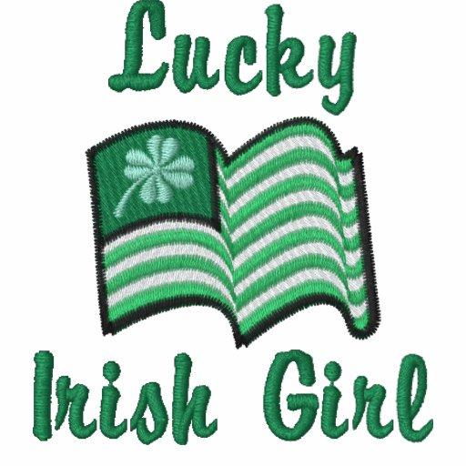 irish flag lucky clover Lucky Irish Girl