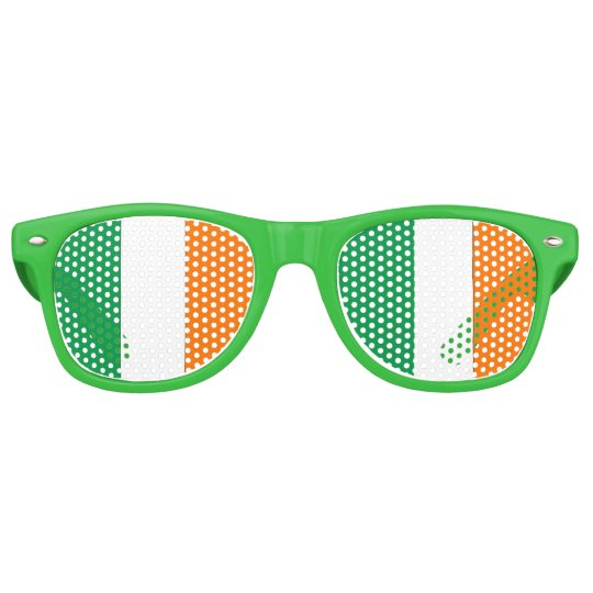 Irish Flag - Party Shades! Retro Sunglasses