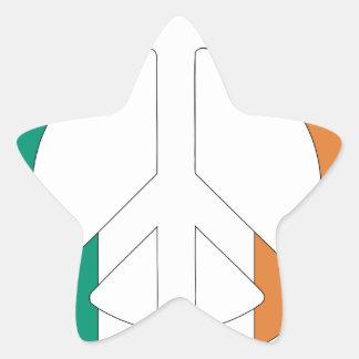 Irish Flag Peace Symbol Star Sticker