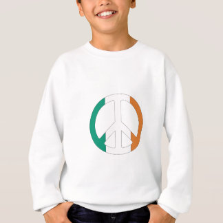 Irish Flag Peace Symbol Sweatshirt