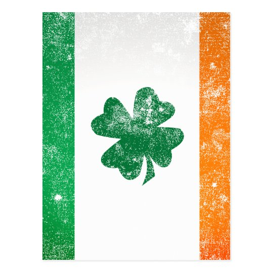 Irish Flag Postcard