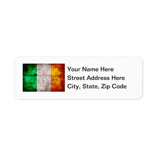 Irish Flag Return Address Label
