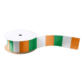 Irish flag ribbon satin ribbon