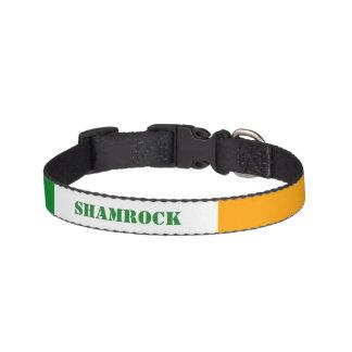 Irish Flag ROI Ireland Tricolor Personalized Dog Collars
