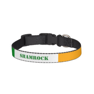 Irish Flag ROI Ireland Tricolor Personalized Pet Collar