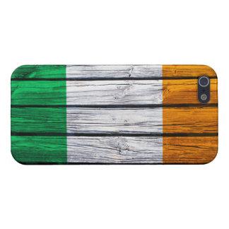 Irish Flag Rustic Wood iPhone 5 Cases
