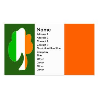 Irish Flag Shamrock Business Cards