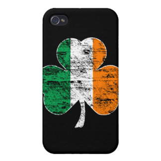 Irish Flag Shamrock (distressed)  Case For The iPhone 4