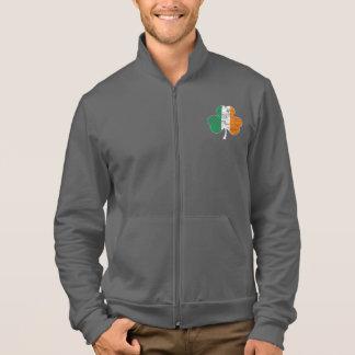 Irish Flag Shamrock Distressed Jacket