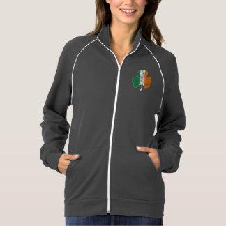 Irish Flag Shamrock Distressed Printed Jacket