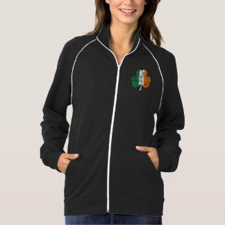 Irish Flag Shamrock Distressed Printed Jackets