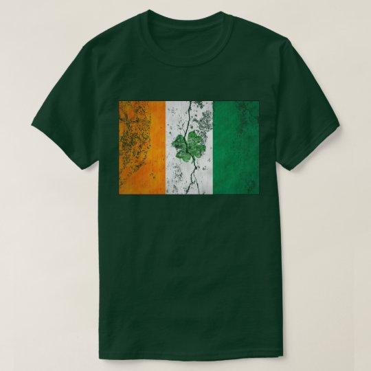 Irish Flag Shamrock (Distressed) T-Shirt