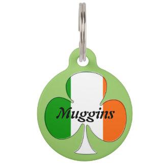 Irish Flag Shamrock Pet Tag