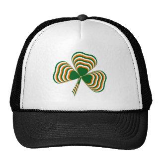 Irish flag shamrock mesh hat