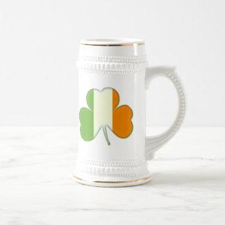 Irish Flag Shamrock Coffee Mugs