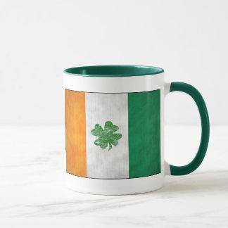 Irish Flag Shamrock Mugs