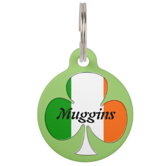 Irish Flag Shamrock Pet Nametag