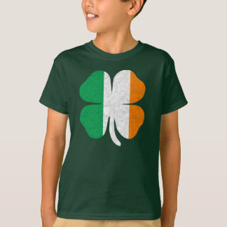 Irish Flag Shamrock T Shirt